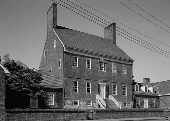 The Brice house is located at 42 East Street in downtown Annapolis. Construction was started in 1761 by John Brice, who died in 1766. Construction was completed by Colonel James Brice, who married Juliana Jennings in 1781.  During this time, many dignitaries, such as the Marquis De Lafayette, dined here. Juliana was described as a gracious and outgoing host. Upon the death of Col. Brice, the house was occupied by his eldest son, Thomas J. Brice, a lifelong bachelor.  Jacobsen was hired by The International Masonry Institute's Jack Joyce to overhaul and take the building back to it's original slpnedor as one of America's great Federal houses.