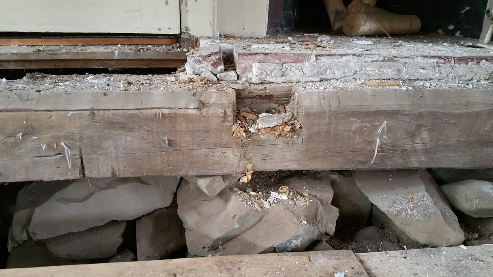 Existing Framing and foundation
