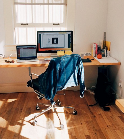 My desk in my Mission studio