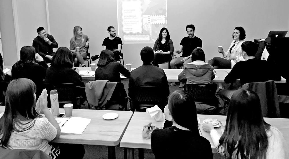 (Left to Right) Micah Rivera, Alicia Greenleaf, Daniel Sturgeon, Anna Carolla, Jon Hioki, Me