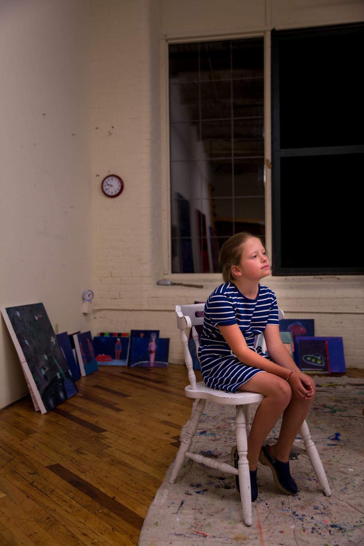 Studio of Artist Kathy Bradford. Brunswick, Maine. July 2016