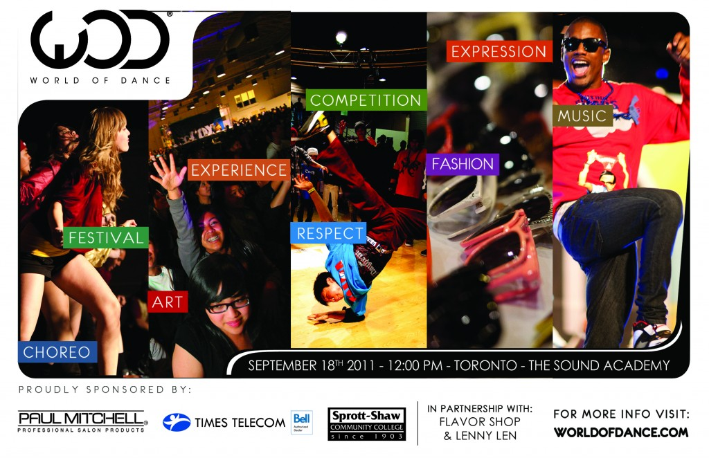 Flyer for World of Dance Tour, Toronto stop