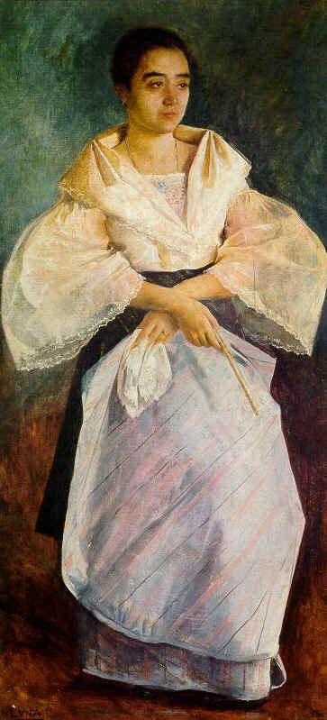 """Una Bulaquena"" by Juan Luna (1895)"