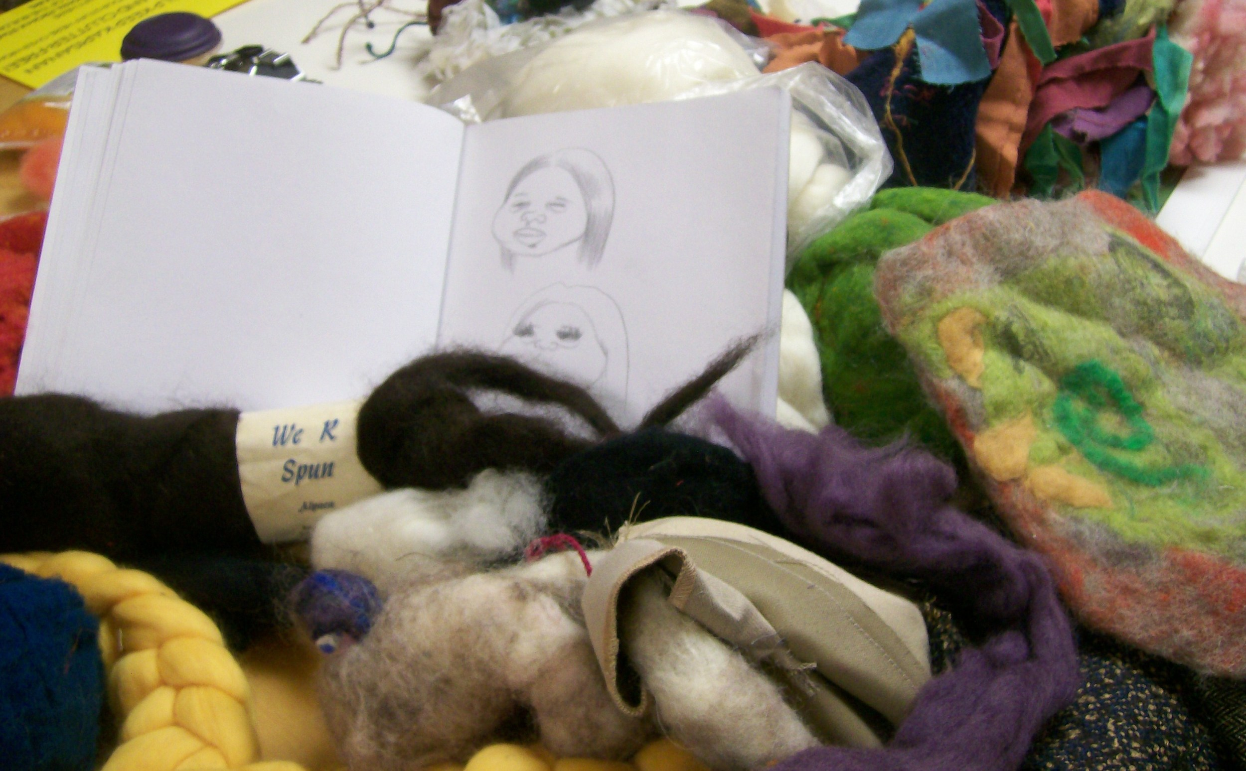 A big mess of felt, fabric and etc