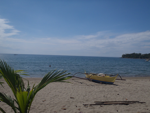 mid-day at the beach, batangas, philippines
