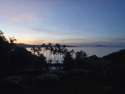 sunset at tali beach, batangas philippines