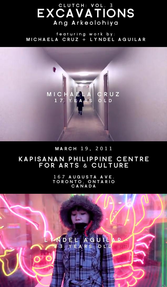A screencap of Clutch Vol3 teaser video. Featuring participants Michaela Cruz and Lyndel Aguilar