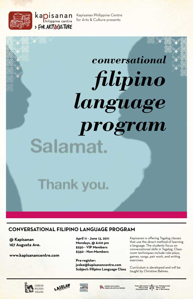 Conversational Filipino Language Program