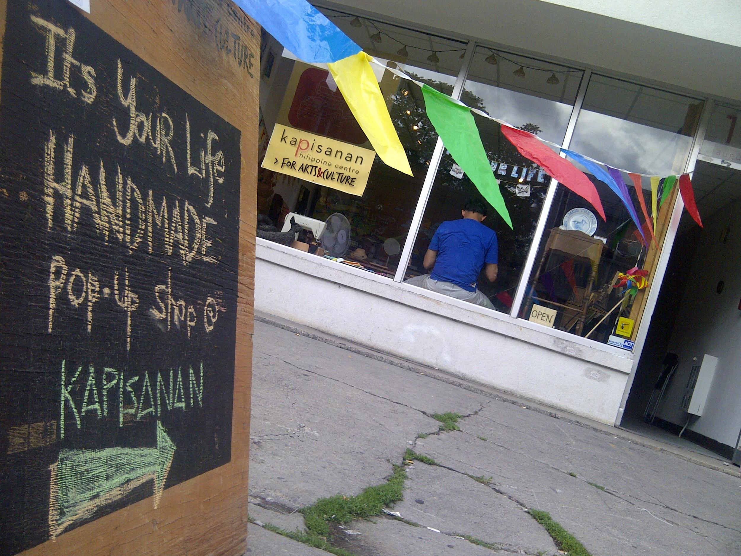 image of kapisanan/its your life handmade storefront, with banderitas
