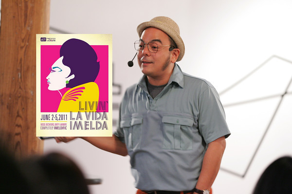 Carlos Celdran at the North American premiere of Livin' La Vida Imelda