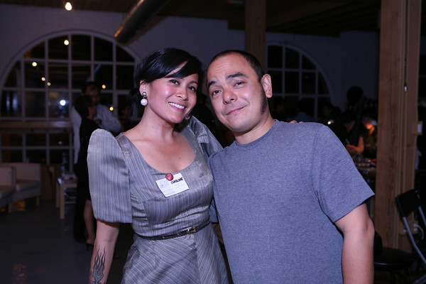 Caroline Mangosing and Carlos Celdran at Livin' La Vida Imelda
