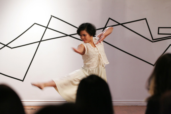 Michaela Cruz dancing at Livin' La Vida Imelda