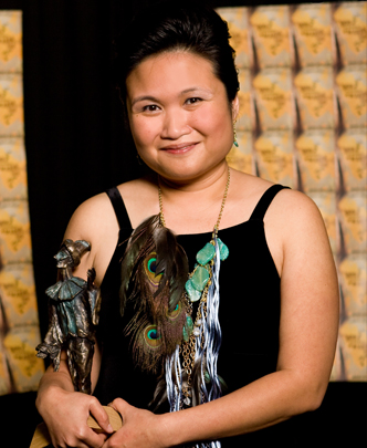 Nina Lee Aquino, a Dora Award winning stage director. Photo by R. McCraig