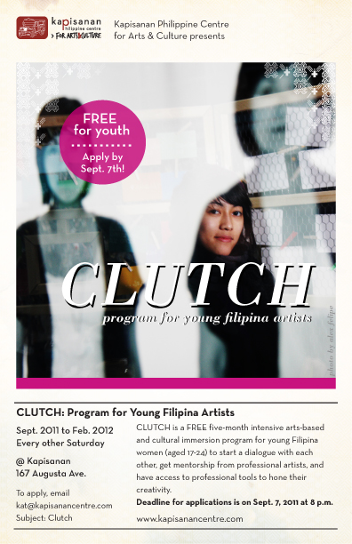 CLUTCH Program poster, Applications due Sept 7th 2011