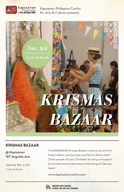 Krismas Bazaar at Kapisanan Dec 3, 2011