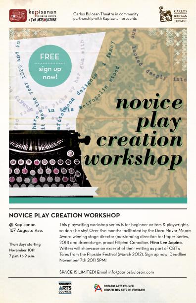 Novice Play Creation Workshop facilitated by Nina Lee Aquino