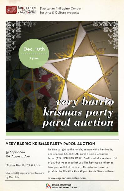 Kapisanan's Very Barrio Krismas Party Parol Auction