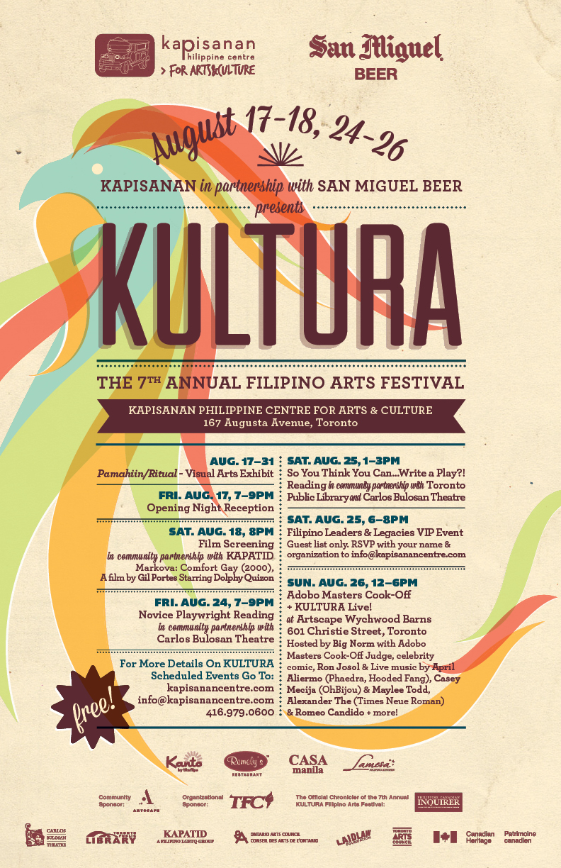 Poster design for the 7th Annual Kultura Filipino Arts Festival