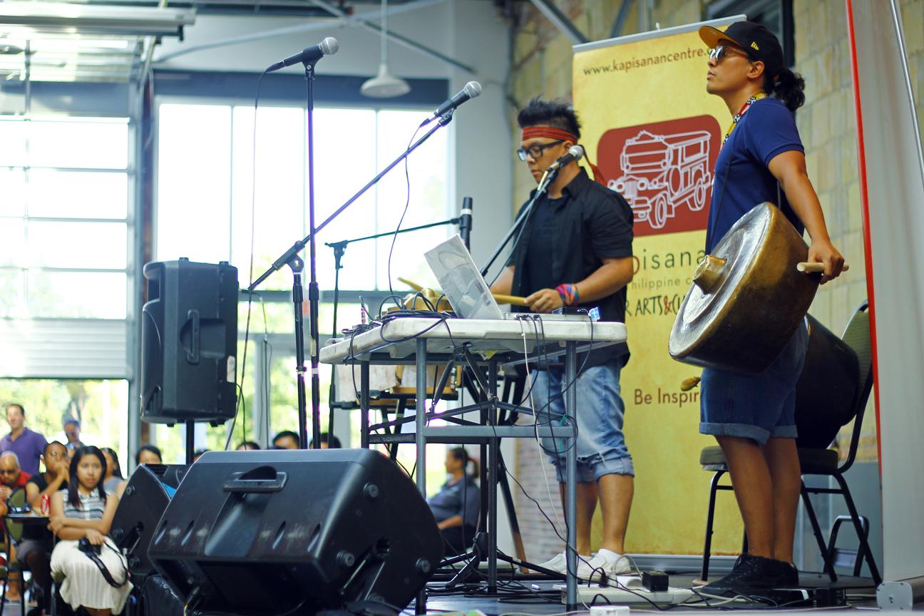 Romeo Candido and Alex Punzalan Jr. performing at Kultura 2012