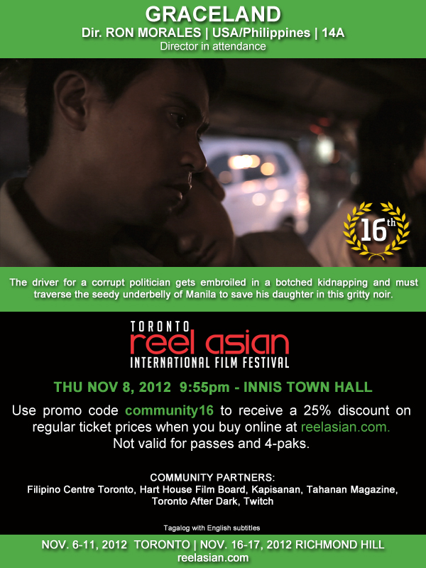 Toronto Reel Asian International Film Festival Co-Presents Graceland