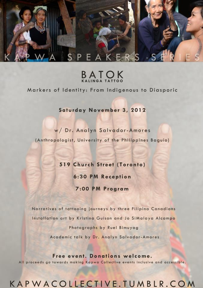 Kapwa Collective presents: Batok - Kalinga Tattoo