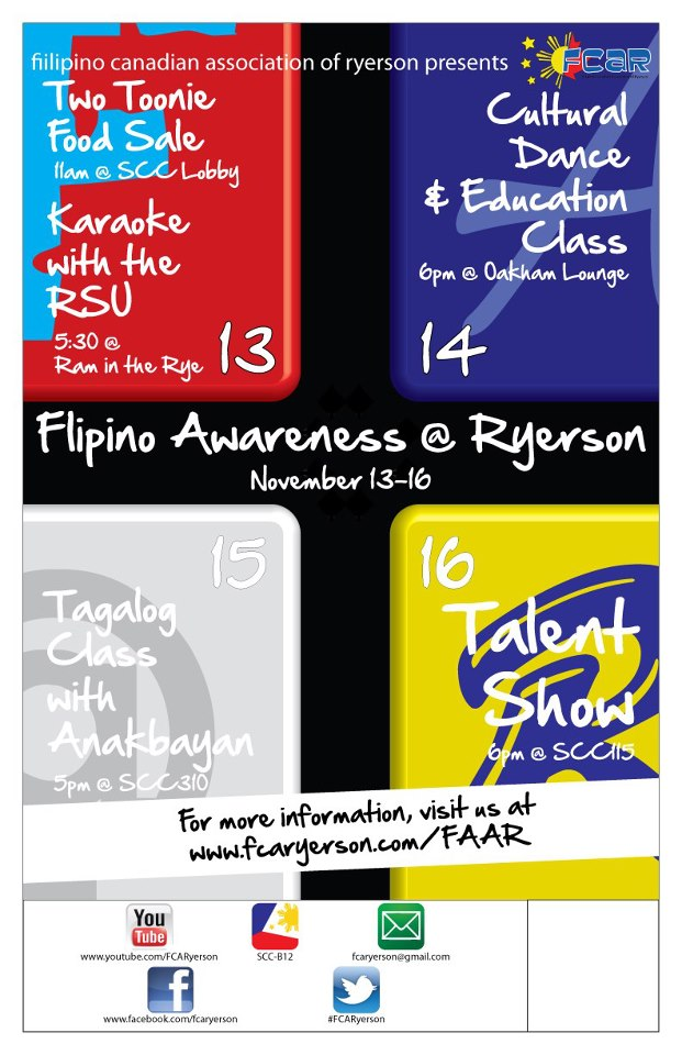 FAAR Filipino Awareness at Ryerson Week