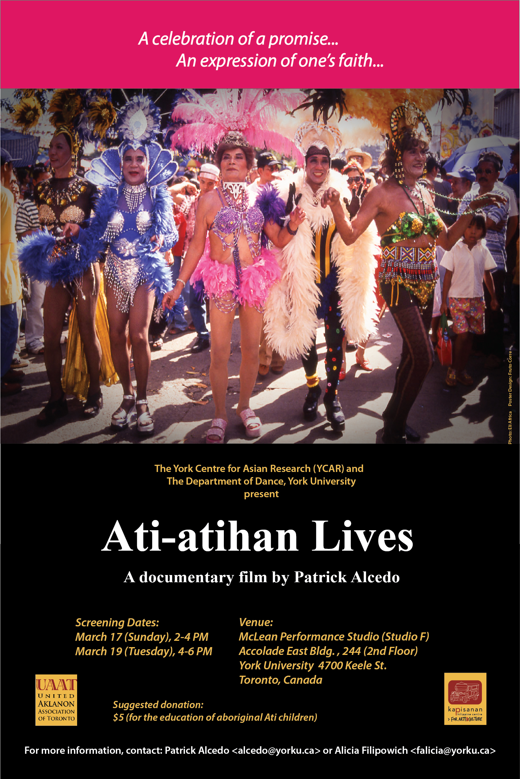 Poster for the documentary film, Ati-atihan Lives by Patrick Alcedo