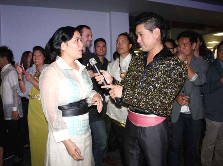 Caroline with Jeff Rustia at CPFW Opening Night