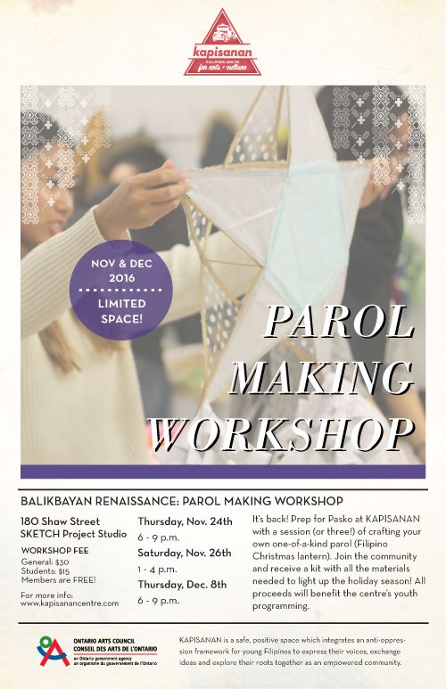 Parol Making Flyer 2016