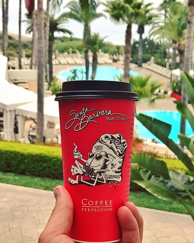 Coffee time at @bacararesortsb #bacara #bacarasb #sbroasting #roco #santabarbara