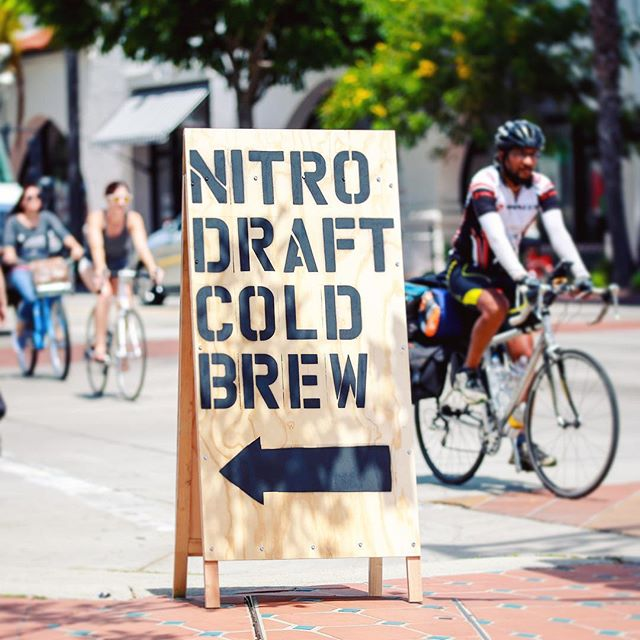 Nitro Draft Cold Brew!! Read the sign. Follow the sign. Love the sign. #nitro #coldbrew #draftcoldbrew #santabarbara