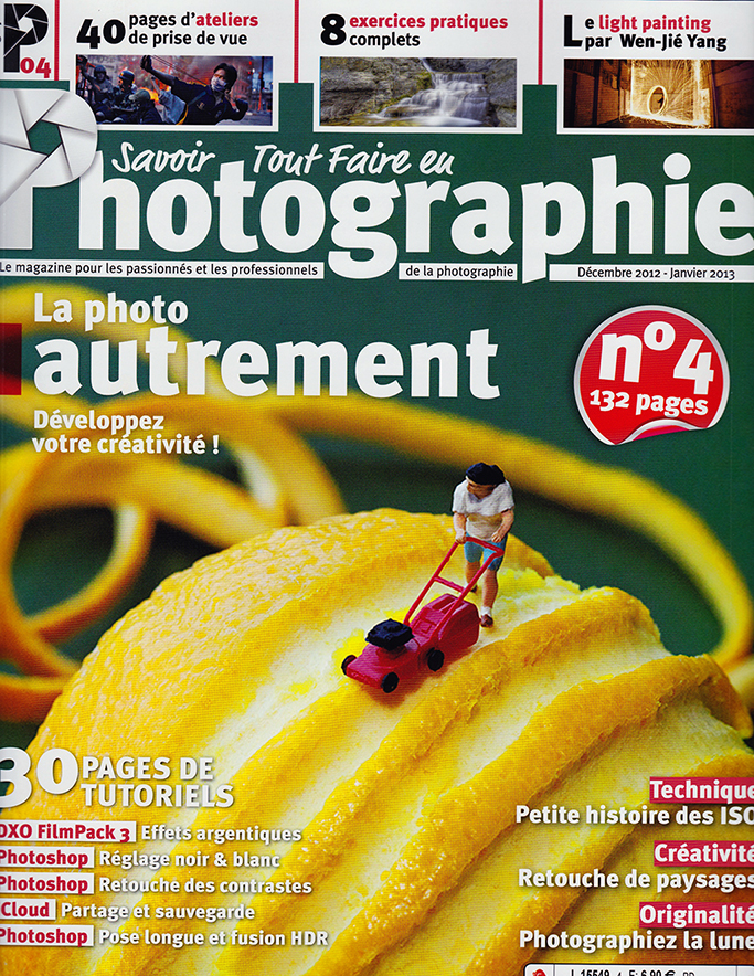 Big Appetites on the cover of Photographie magazine (France)
