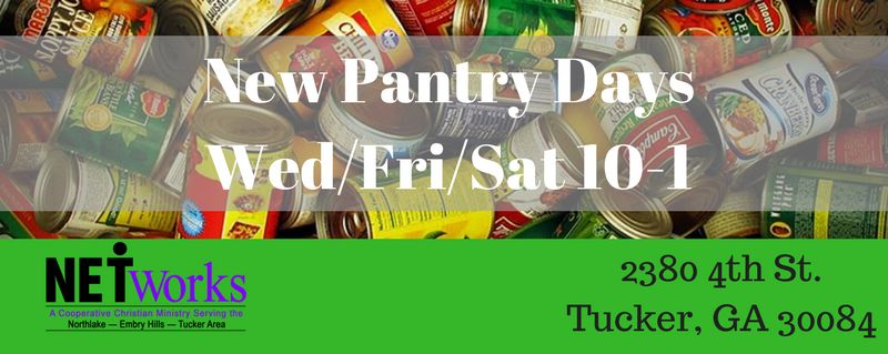 Our Food Pantry is now open every Saturday from 10-1 (closed on holiday weekends).