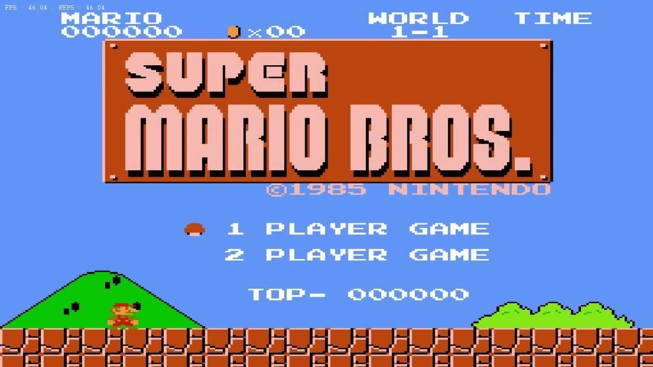 title - Super Mario Bros. (NES/Famicom, 1985)