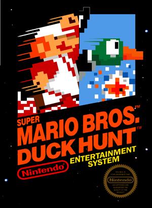 combocartcover - Super Mario Bros. (NES/Famicom, 1985)