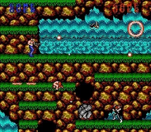 contra nes screenshot - Contra (Konami, 1987)