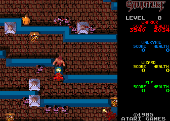 664100 gauntlet arcade screenshot level 8 - Gauntlet (Atari, 1985)