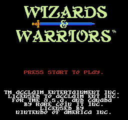 img - Wizards & Warriors (Rare Ltd., 1987)