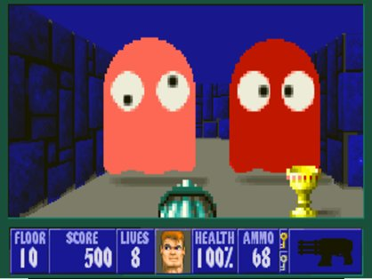 screen5 pacman - Wolfenstein 3D (id Software, 1992)