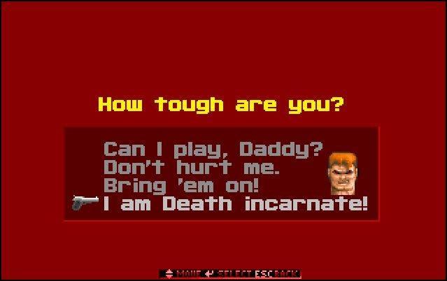difficulty - Wolfenstein 3D (id Software, 1992)