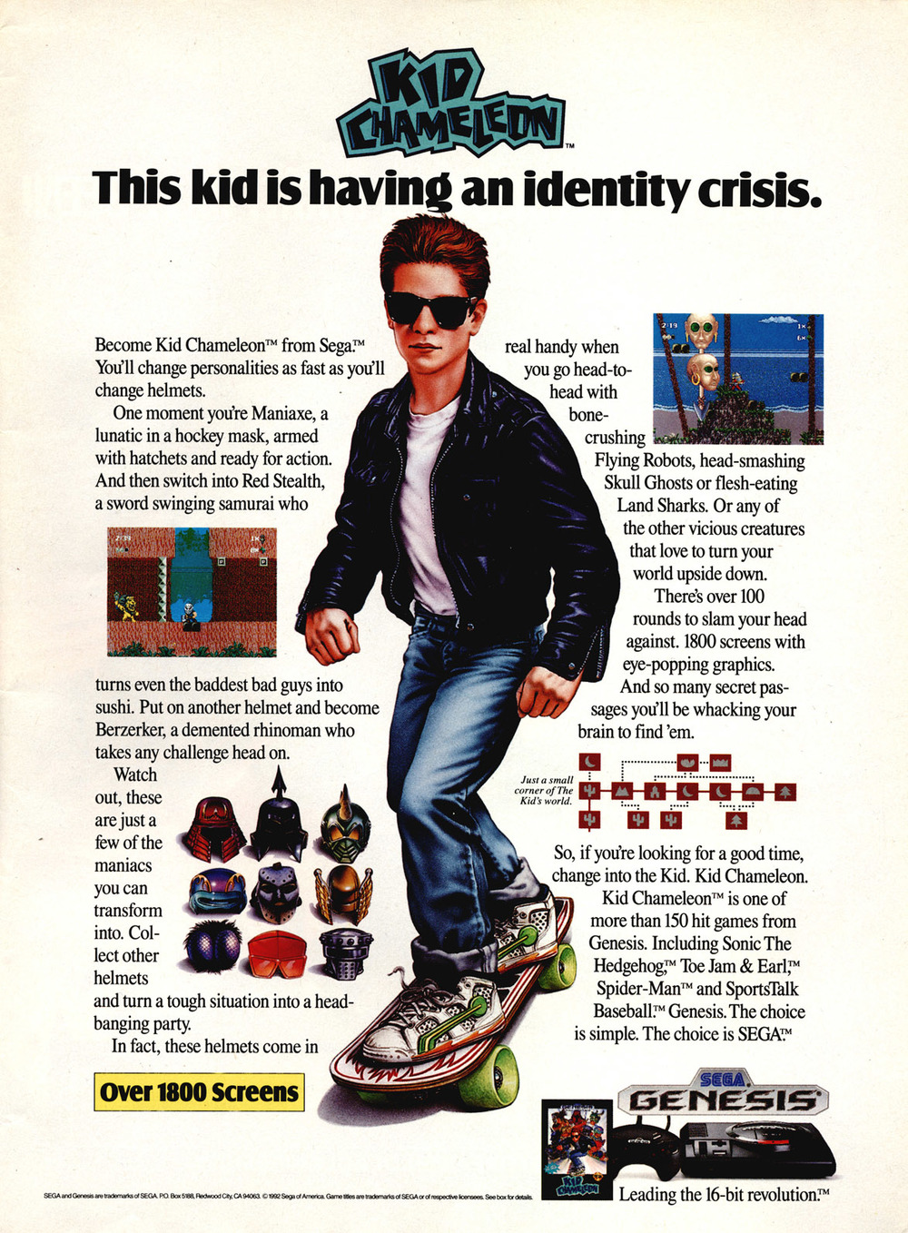 I stand partially corrected. I did find this ad. I never saw it as a kid, though. The ad copy is kind of shaky... they just make him sound mentally ill. Hell, maybe he is. The best heroes are.