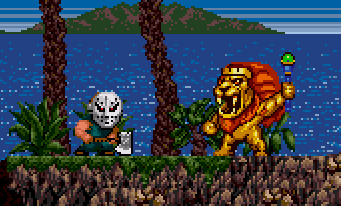 """Every time I see this particular enemy, I can't help but laugh. Even Kid is looking at me like """"I know, right?"""" And then the man-lion cooks my ass with some bizarre homing projectile and I remember I'm playing Kid Chameleon."""
