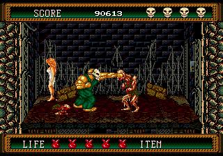 s2 screen2 - Splatterhouse 2 & 3 (Namco, 1992/1993)