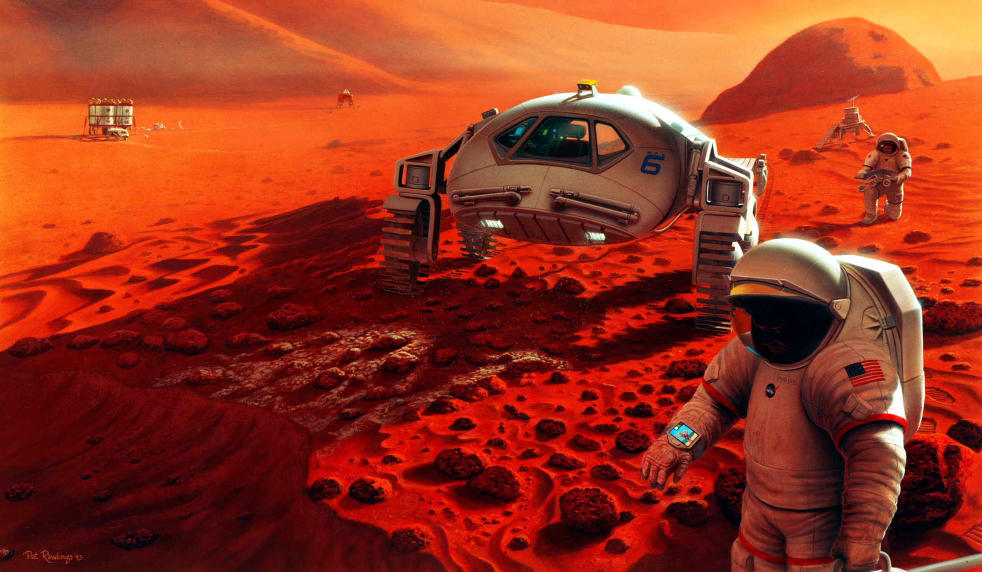 nasa mars art manned mission - Retro Gallery Archive (Full Size)