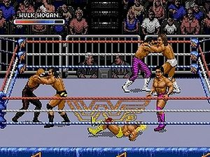 rumblematch genesis - WWF Royal Rumble (Sculptured Software/LJN, 1993)