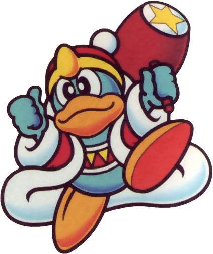 King Dedede, more of a bully and a glutton than a proper villain. He even joins forces with Kirby in later games, notably some of the Game Boy Advance titles.