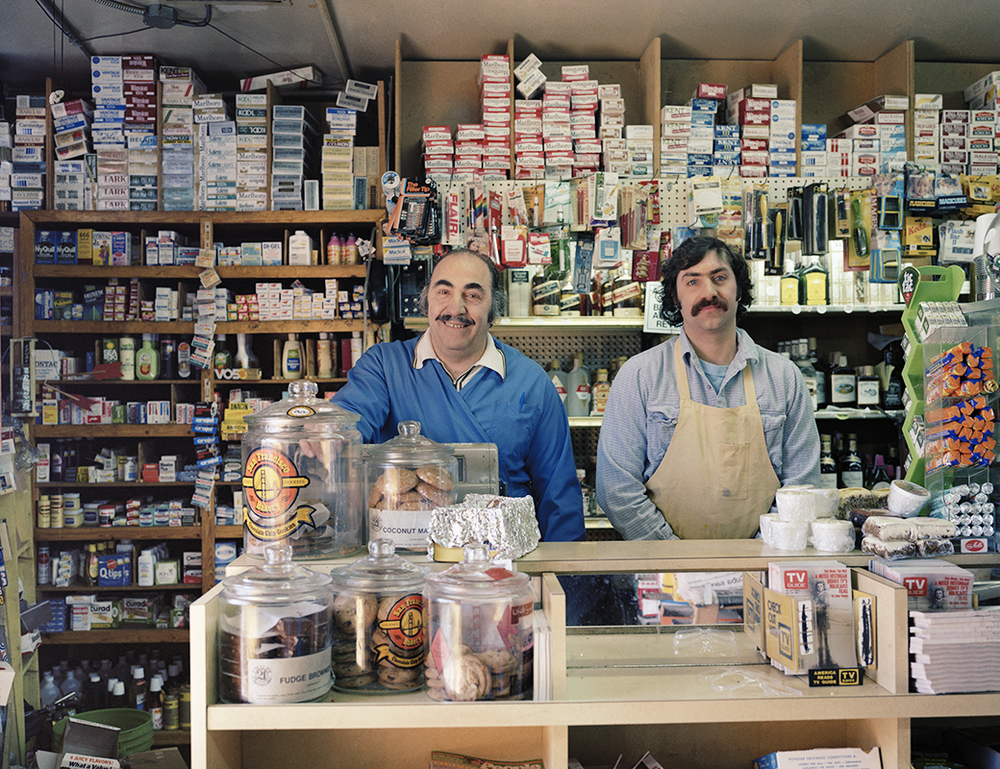 Photo By Janet Delaney- Ted Zouzounis and his son, David, at Ted's Market, 1530 Howard Street,1982