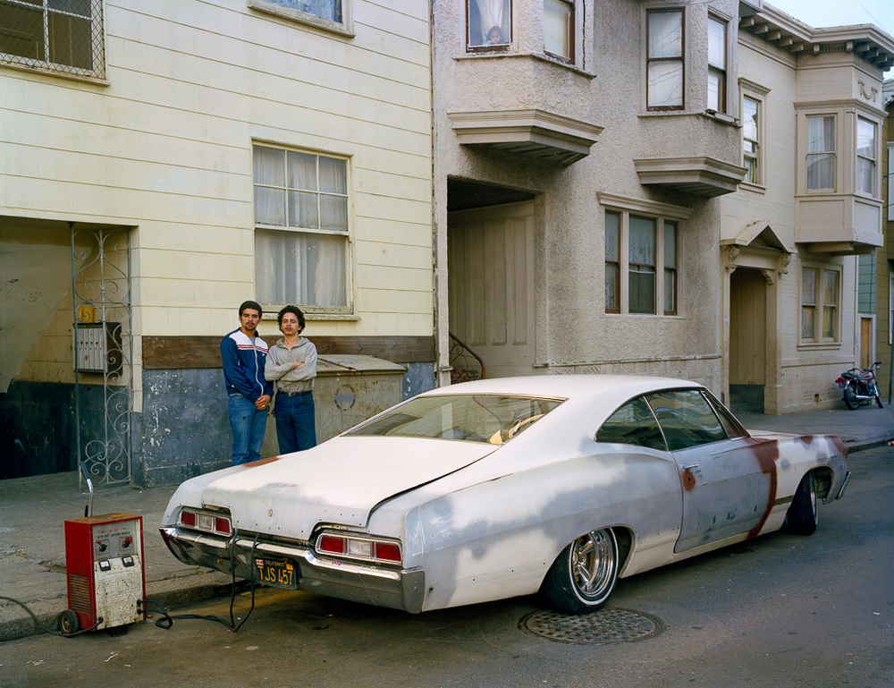 Photo By Janet Delaney- Charging battery, Moss Street, 1982