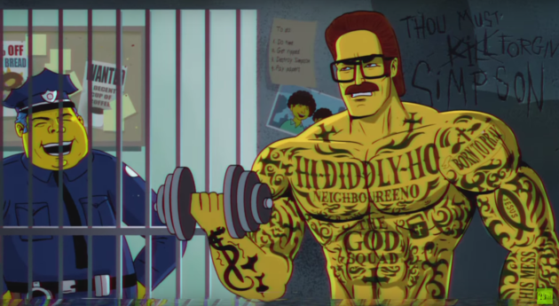 Miami Vice vs The Simpsons