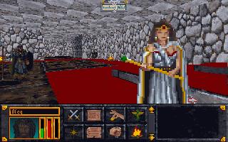 533964 the elder scrolls arena dos screenshot chatting with the queen - The Elder Scrolls: Arena (Bethesda Softworks, 1994)
